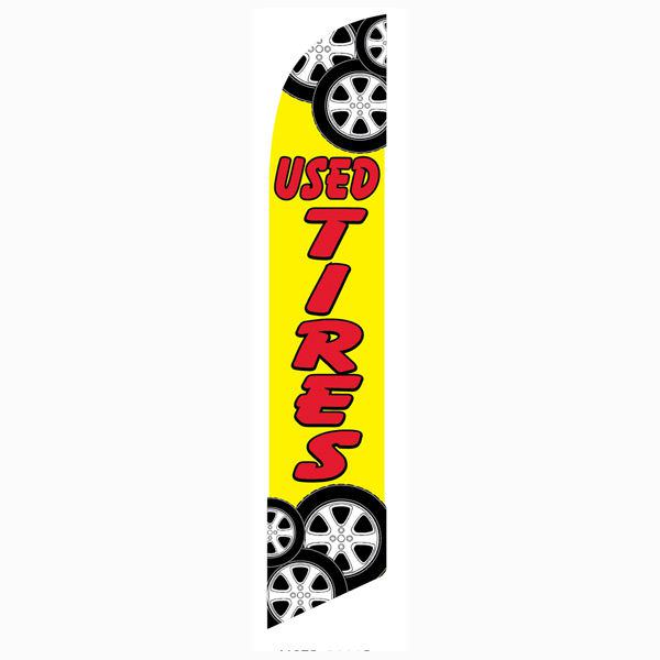 Used tires Feather Flag Banner