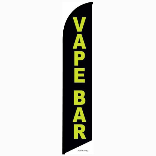 Vape Bar Feather Flag Banner