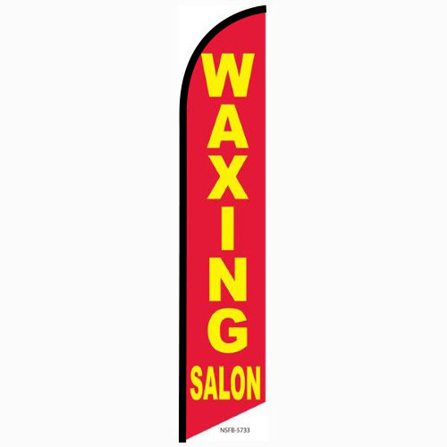 Waxing Salon Feather Flag Banner