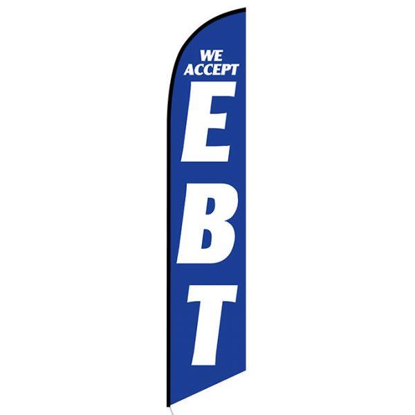 We Accept EBT Feather Flag Banner
