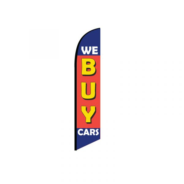 We Buy Cars Feather Flag Banner