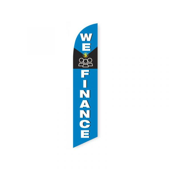 We Finance (Blue and Black) Feather Flag Banner