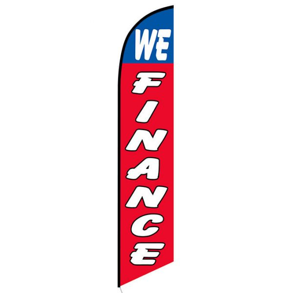 We Finance Feather Flag Banner