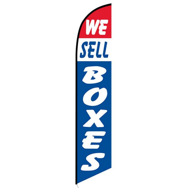 We Sell Boxes Feather Flag Banner