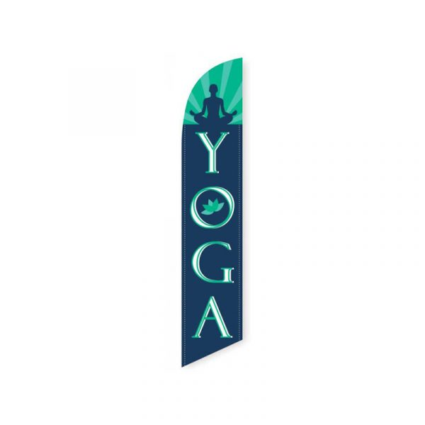Yoga Feather Flag Banner