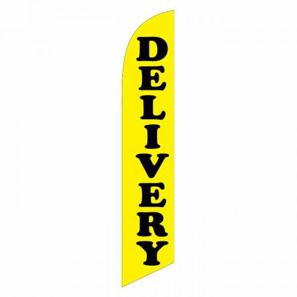 Delivery (Yellow) Feather Flag Banner