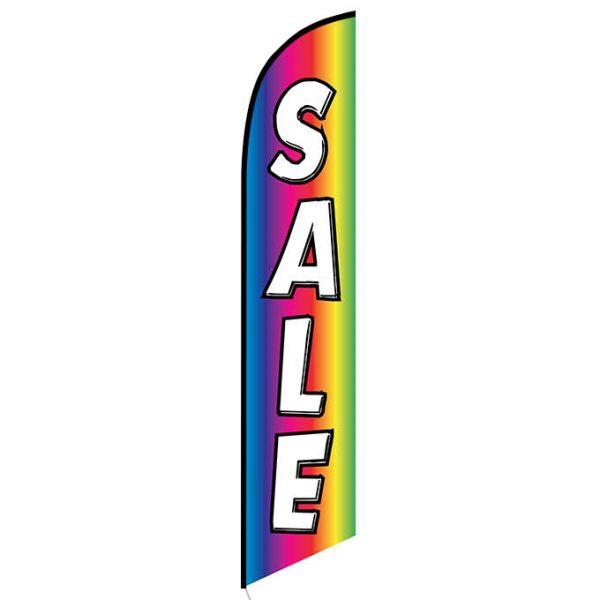 Sale (rainbow) Feather Flag Banner