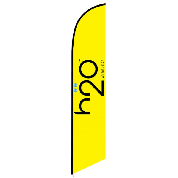 h2o Wireless Feather Flag Banner