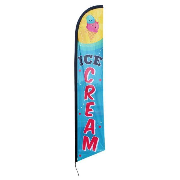 Ice Cream Feather Flag Banner