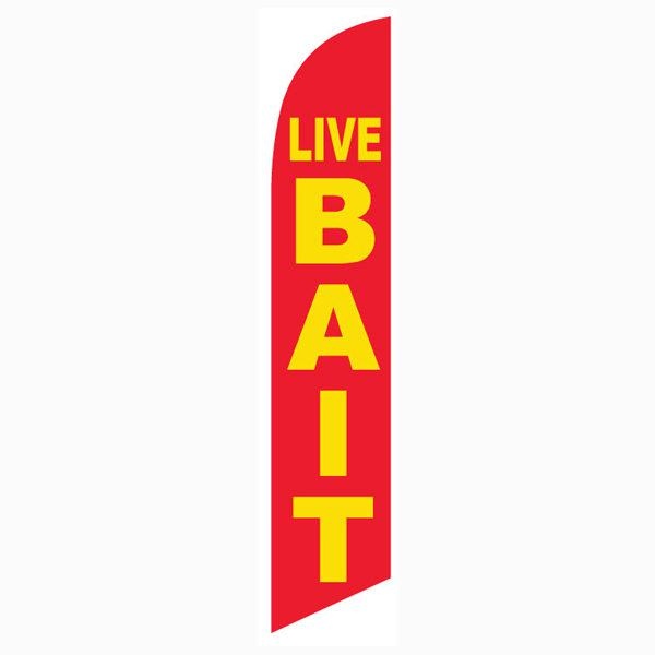 Live Bait Feather Flag Banner