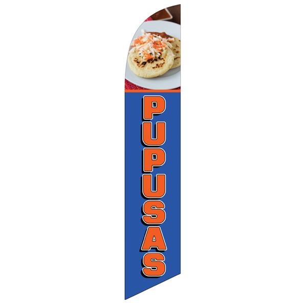 Pupusas Feather Flag Banner