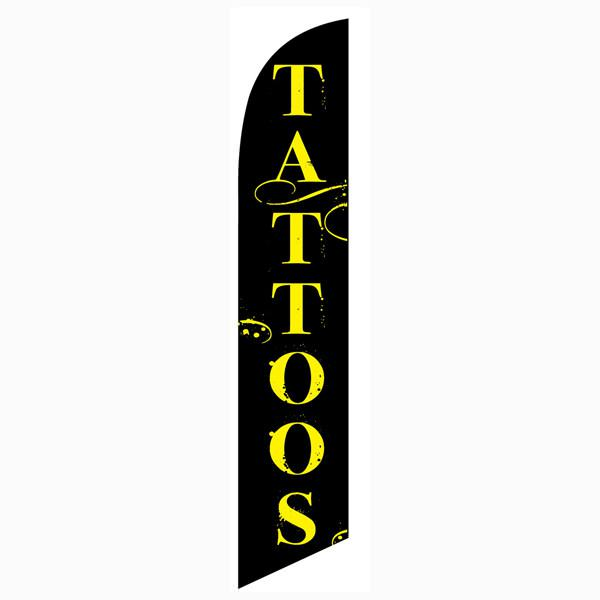 Tattoos Feather Flag Banner